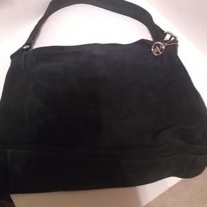 A suede Gianni Bernini purse
